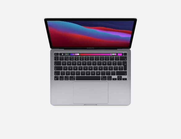 Apple Macbook Pro 13 M1 8gb 512gb Ssd Space Gray Cinza 2020 2021 A2338 MYD92BZ/A MYD92LL/A MYD92