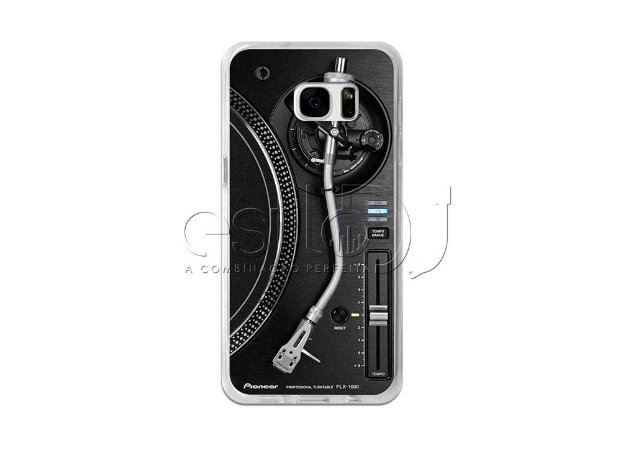Capa de celular para DJ modelo Samsung Galaxy S7 - Toca Discos Pioneer Preto PLX-1000