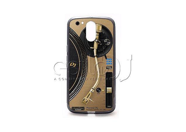 Capa de celular para DJ modelo Moto G4 Plus - Toca Discos Pioneer Dourado PLX-1000n