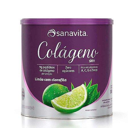 Colágeno Skin Sabor Limão + Clorofila 300g Sanavita