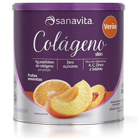 Colágeno Skin 300g – Sanavita Sabor Verão Frutas Amarelas