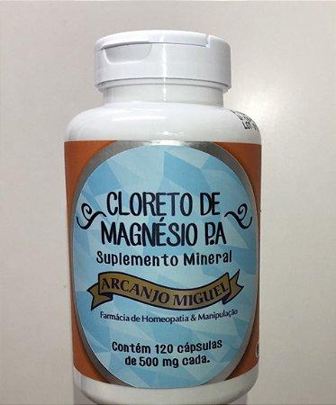 Cloreto de magnésio P. A. 120 cápsulas de 500 miligramas