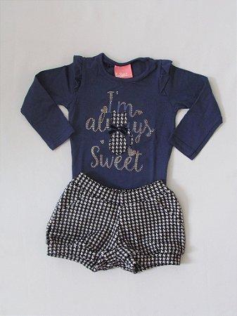 Le Petit - Conj Blusa Cotton com Shorts Jaquard