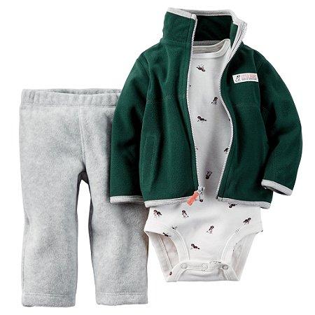 Carter's Conjunto Inverno em Fleece Verde
