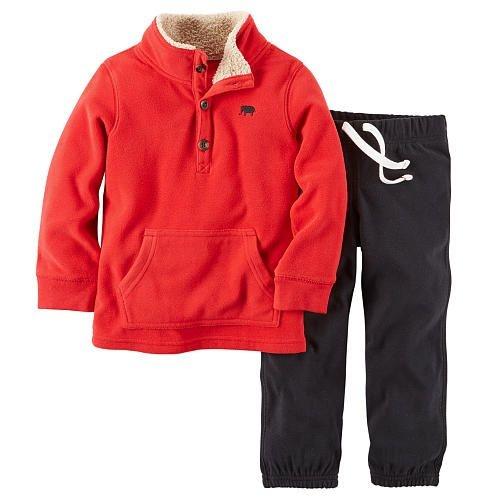 Carter's Conjunto Inverno em Fleece Vermelho