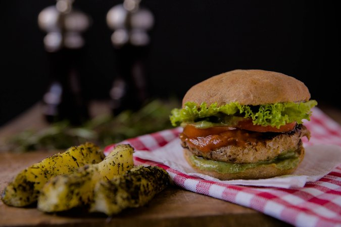 Hambúrguer Gourmet Vegano - Lanche