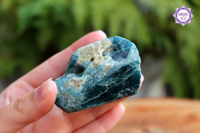 Apatita Azul Bruta aprox. 120g |Pedra da Projeção Astral e Sonho Lúcido!