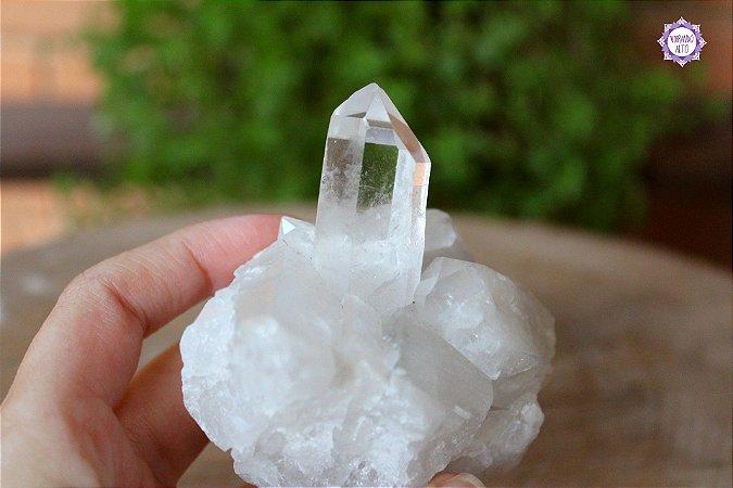 Drusa de Quartzo 225g  Cristal de Limpeza, Purificação e Cura