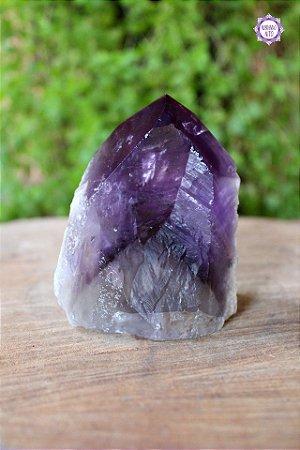 Ponta de Ametista Especial (8cm) | Cristal de Proteção, Transmutação e Comunicação Divina