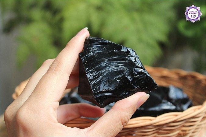 Obsidiana Negra (de 75g a 100g a unidade) | Pedra para Proteção Psíquica e Energética
