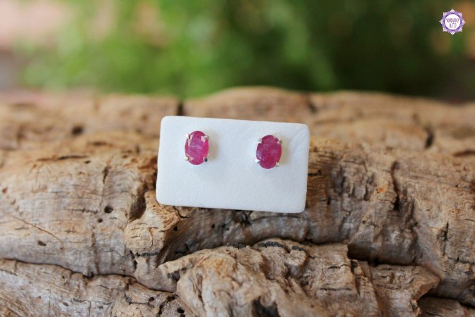 Brinco de Turmalina Rosa (Prata 950)   Purificação Emocional