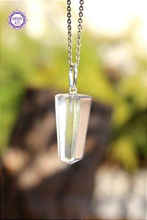 Pingente Pontinha de Quartzo (Prata 950) 6g   Cristal de Limpeza, Purificação e Cura