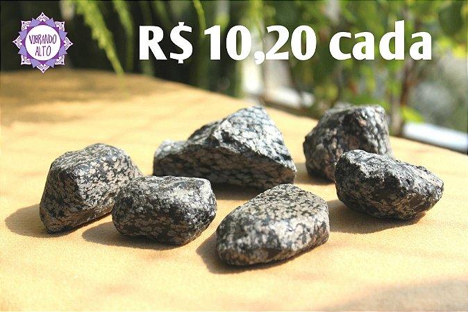 Obsidiana Floco de Neve Bruta (aprox. 69g) | Pedra da Orientação e Comunicação Espiritual!