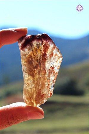 Cristal Super Seven Polido 24g |Cacoxenita| Pedra Metafísica, Limpeza e Purificação Espiritual