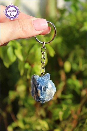Chaveiro Cianita Azul 27g | Cristal da Telepatia e Recordação de Vidas Passadas!