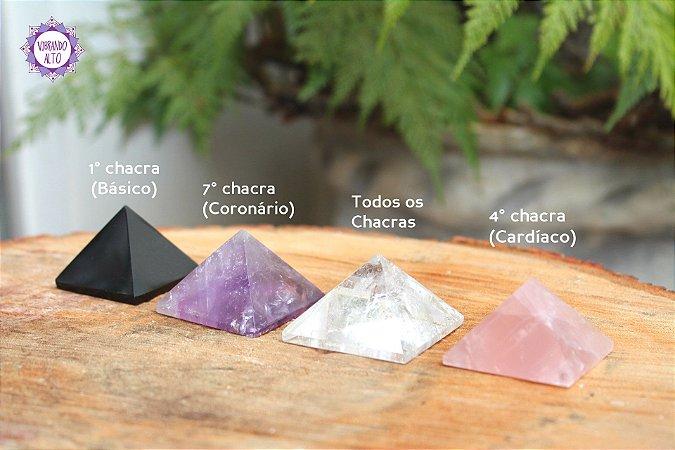 Kit Essencial Pirâmides de Cristal | Para Canalização das Energias Universais