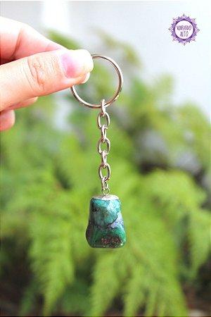 Chaveiro de Esmeralda 16g | Pedra do Amor Divino, Cura e Prosperidade!