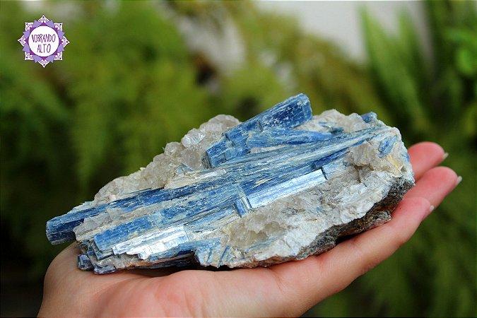 Cianita Azul 466g   Pedra da Telepatia, Recordação de Vidas Passadas e Arcanjo Miguel!