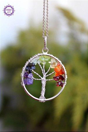 Pingente Árvore da Felicidade 5g | A Energia dos Cristais Sempre com Você