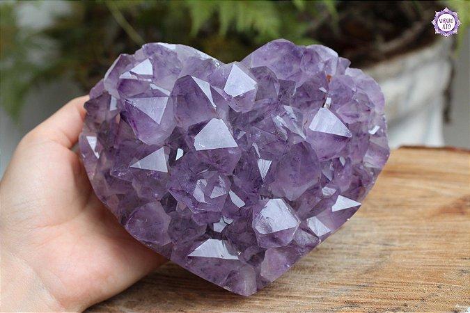 Drusa de Coração Ametista 1.4kg | Cristal de Proteção e Transmutação