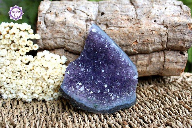 Drusa de Ametista 217g   Cristal de Proteção, Transmutação e Comunicação Divina!