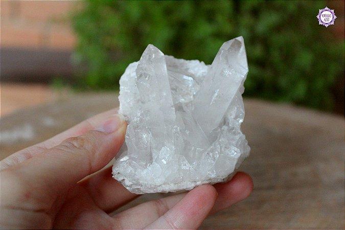 Drusa de Quartzo 150g | Cristal de Limpeza, Purificação e Cura