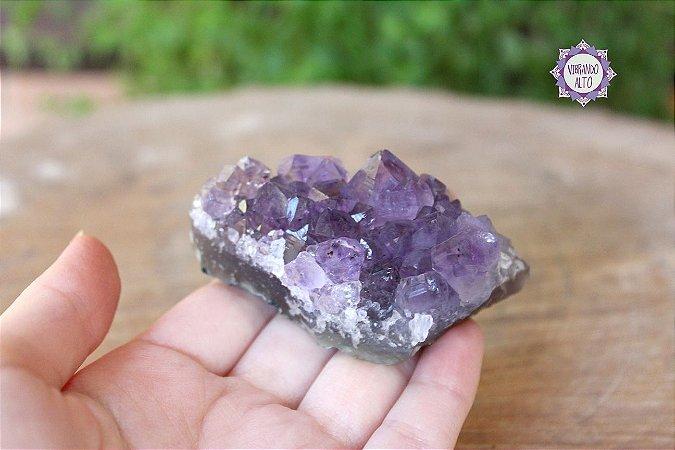 Drusa de Ametista 89g | Cristal de Proteção, Transmutação e Comunicação Divina