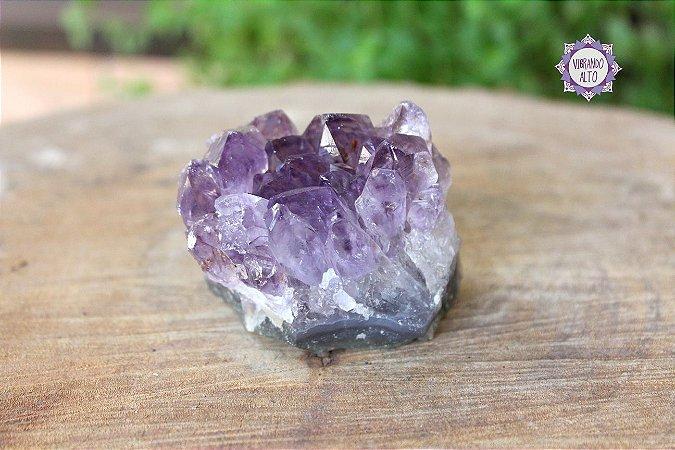 Drusa de Ametista 144g | Cristal de Proteção, Transmutação e Comunicação Divina