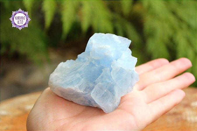 Calcita Azul Bruta 207g   Pedra da Inspiração Criativa e Habilidades Mediúnicas!