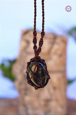 Castroado de Ônix com Cordão Marrom Ajustável | Pedra do Foco, Força Interior e Disciplina