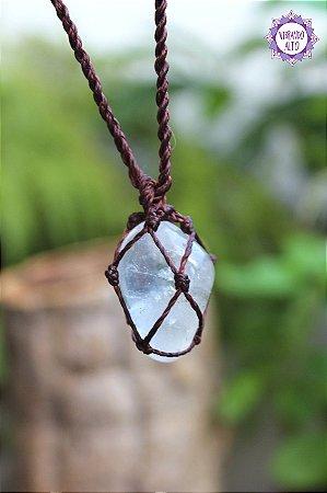 Castroado de Cristal com Cordão Marrom Ajustável | Cristal de Limpeza, Purificação e Cura