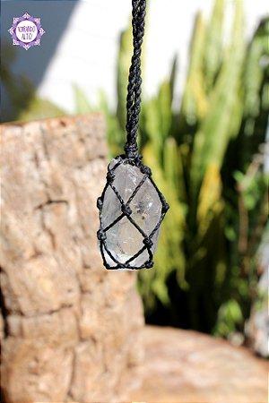 Castroado Ponta de Cristal com Cordão Ajustável | Cristal de Limpeza, Purificação e Cura