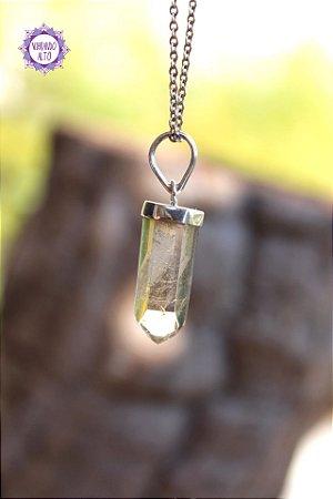 Pingente Pontinha Citrino Natural (Prata 950) 3g | Cristal da Manifestação, Prosperidade e Criatividade