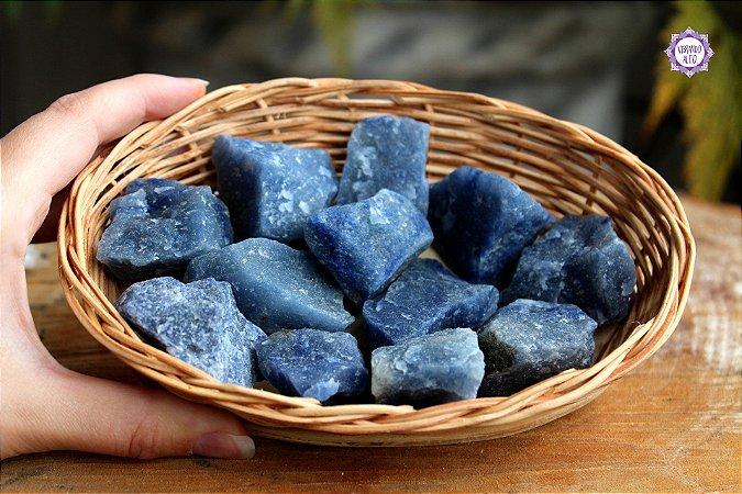 Quartzo Azul Bruto (de 2 a 4cm a unidade) | Cristal de Sintonia Psíquica e Força Interior