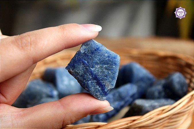 Quartzo Azul Bruto (de 30g a 40g) | Cristal de Sintonia Psíquica e Força Interior