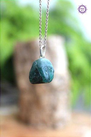 Pingente Esmeralda (Prata 950) - Pedra de 2020 | Pedra do Amor Divino, Cura e Prosperidade