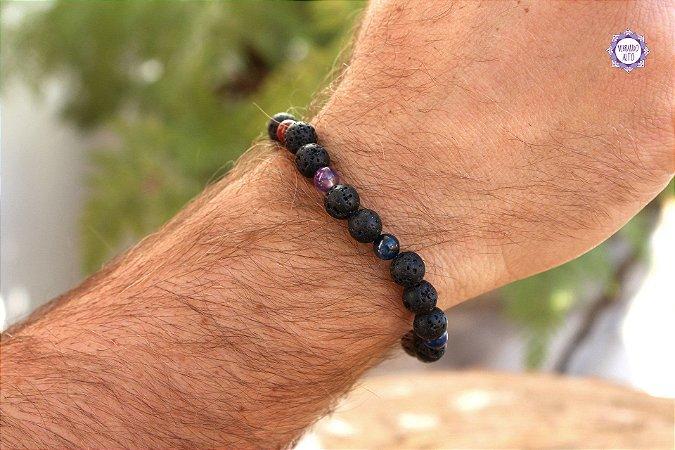 Pulseira de Cristais 7 Chakras Masculina | A energia dos cristais sempre com você