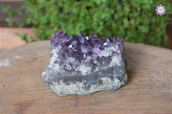 Drusa de Ametista 616g | Cristal de Proteção, Transmutação e Comunicação Divina
