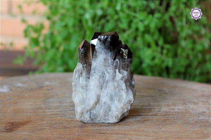 Drusa de Quartzo Fumê 275g | Cristal para Proteção do Campo Energético
