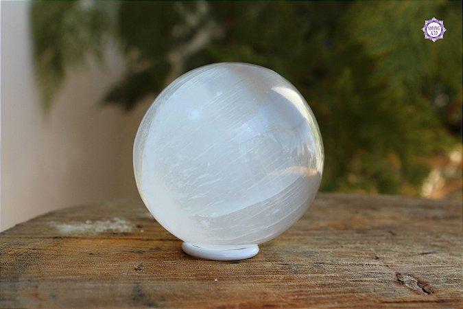Esfera de Selenita (238g) | Pedra de Ativação Espiritual