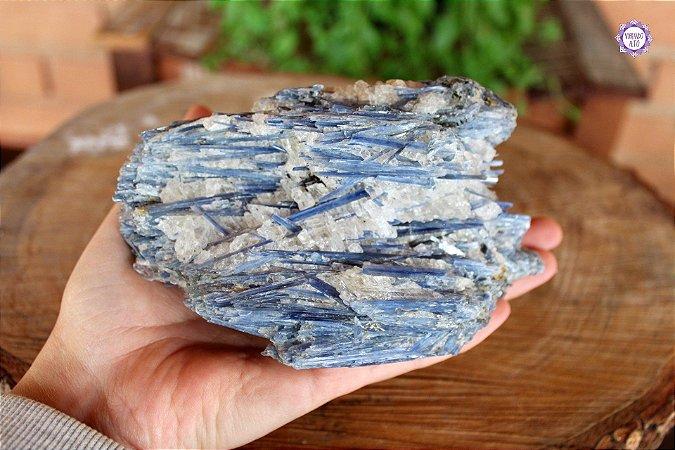 Cianita Azul 711g | Telepatia, Recordação de Vidas Passadas e Pedra de Arcanjo Miguel