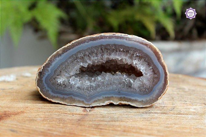 Geodo de Ágata Natural 499g | Equilíbrio Emocional e das Energias Yin e Yang