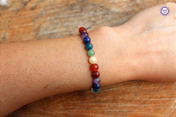 Pulseira de Cristais 7 Chakras Feminina | A energia dos cristais sempre com você