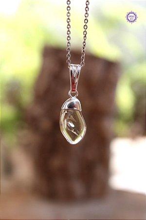 Pingente Citrino Natural (Pino Prateado) | Cristal da Manifestação, Prosperidade e Criatividade