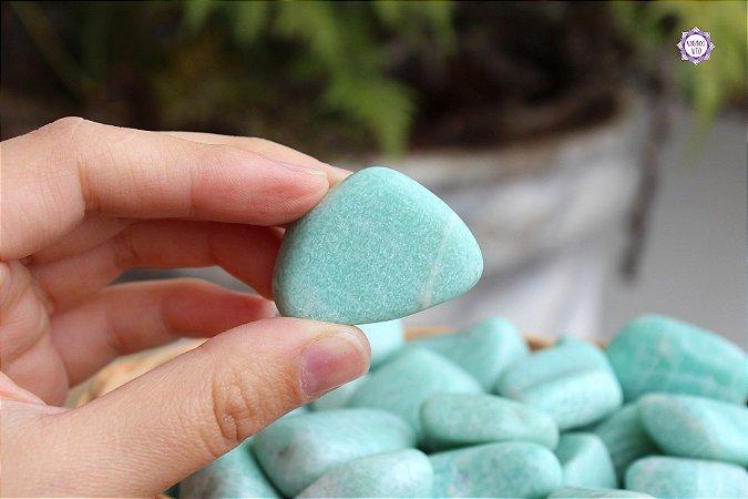 Amazonita Rolada (de 2cm a 4cm a unidade) | Pedra de 2021 | Pedra da Harmonia e Comunicação