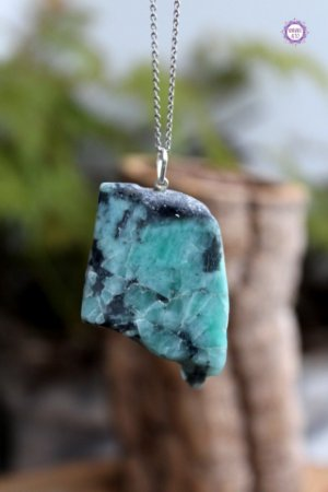 Pingente Chapa de Esmeralda (Prata 950) - Pedra de 2020 | Pedra do Amor Divino, Cura e Prosperidade