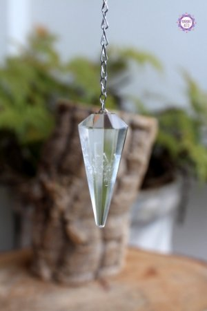 Pêndulo de Quartzo Facetado | Cristal de Limpeza, Purificação e Cura | Programável