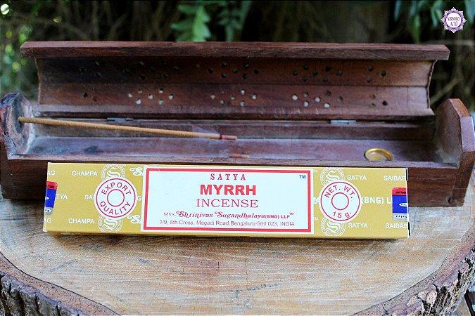 Incenso Importado Satya Mirra caixa com 12 varetas
