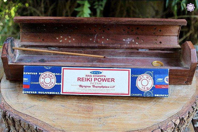 Incenso Importado Satya Poder do Reiki caixa com 12 varetas