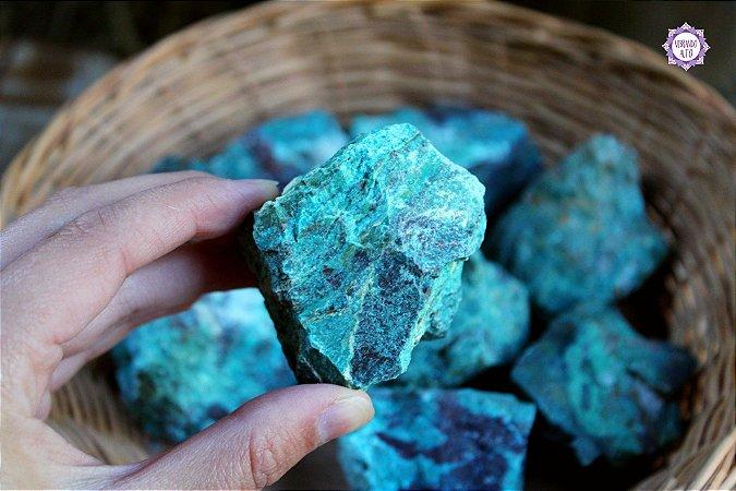 Crisocola Bruta (80g a 100g a unidade) | Pedra da Comunicação, Expressão e Poder
